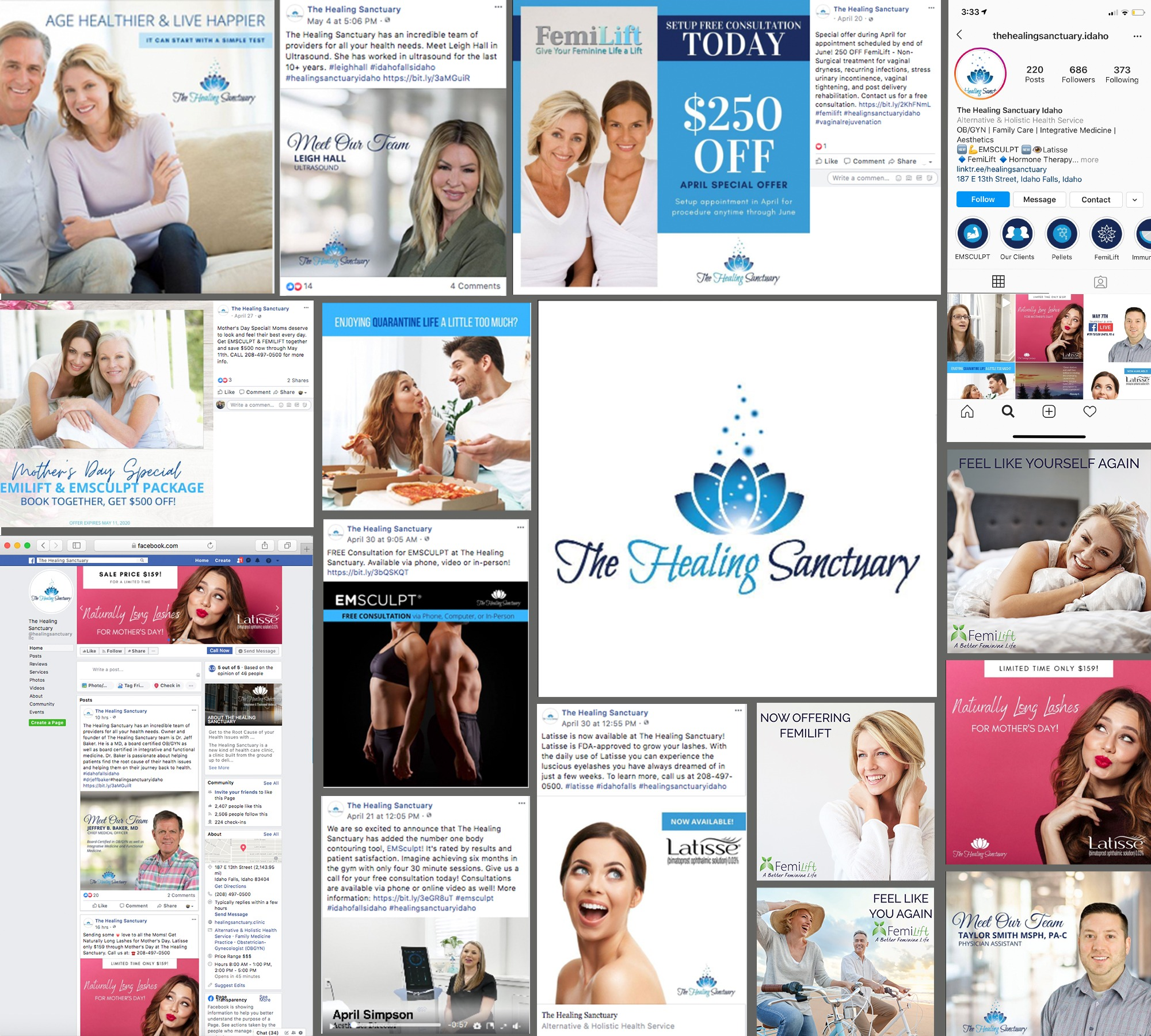 The Healing Sanctuary Social Media