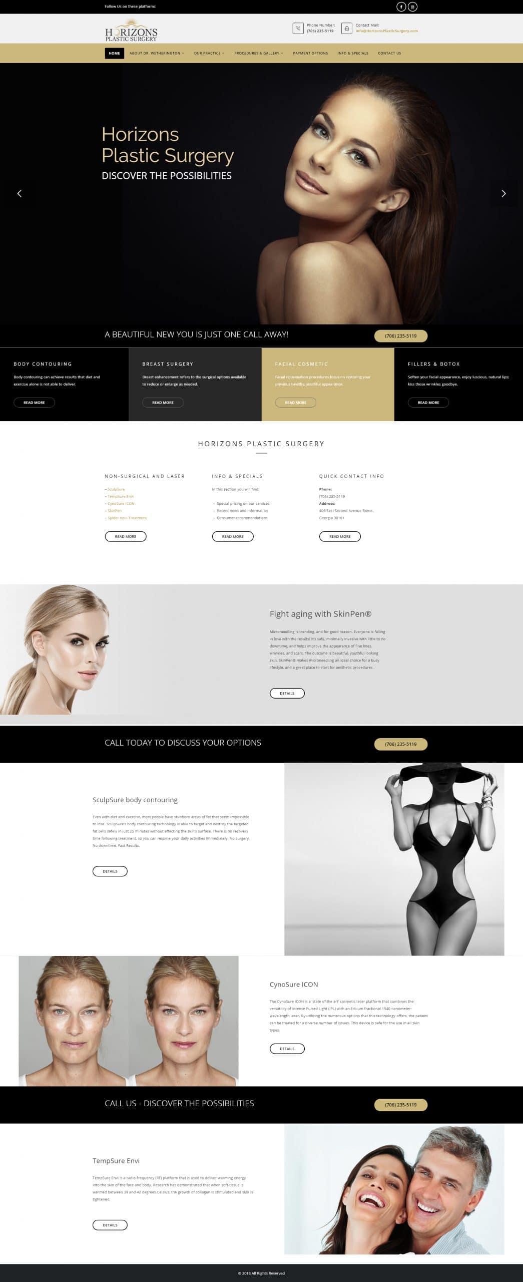 Horizons Plastic Surgery Homepage