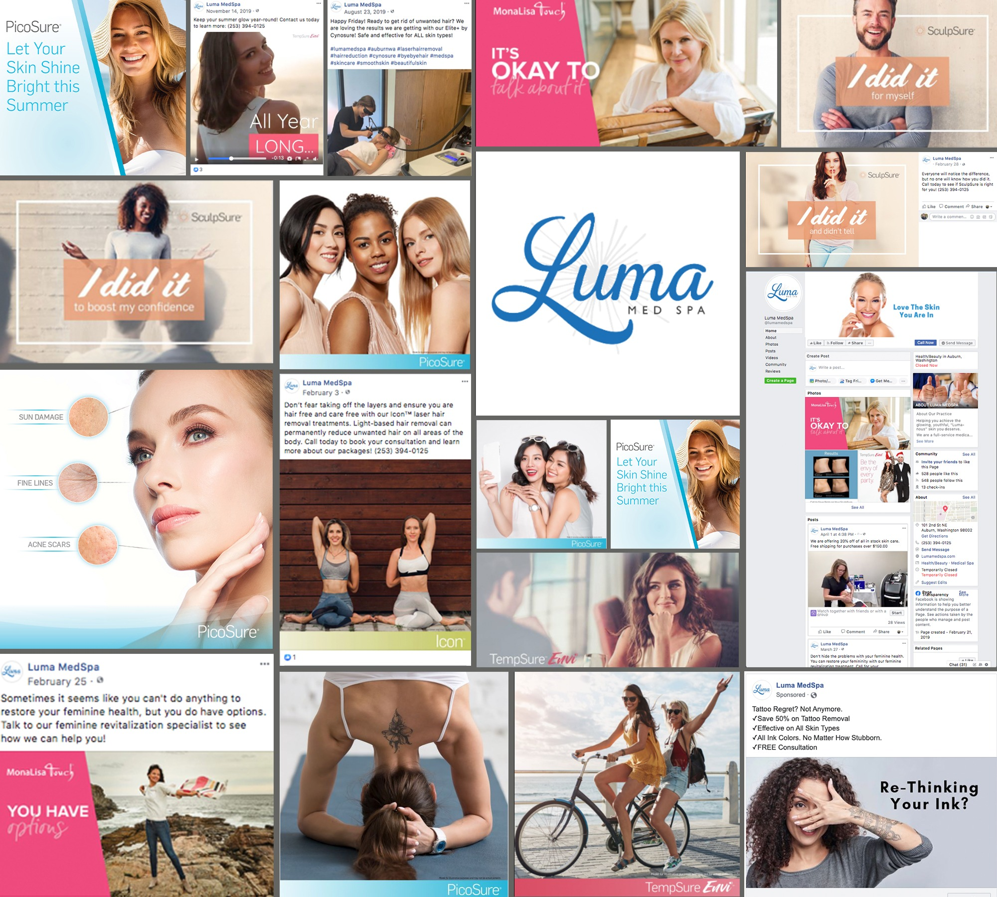 Luma Med Spa Web Social Media