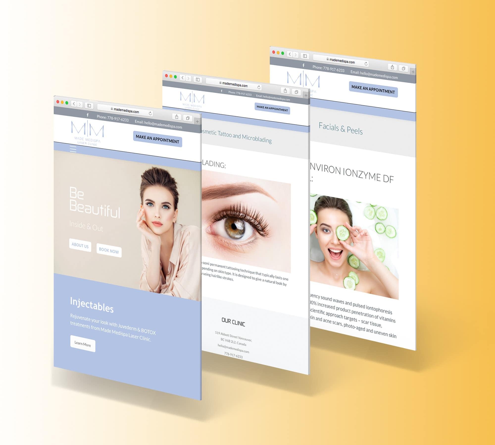Made Medispa Web Display