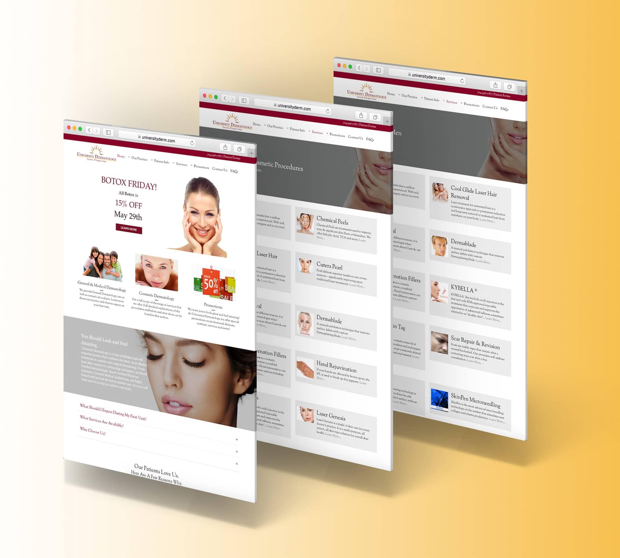 University Dermatology Web Display
