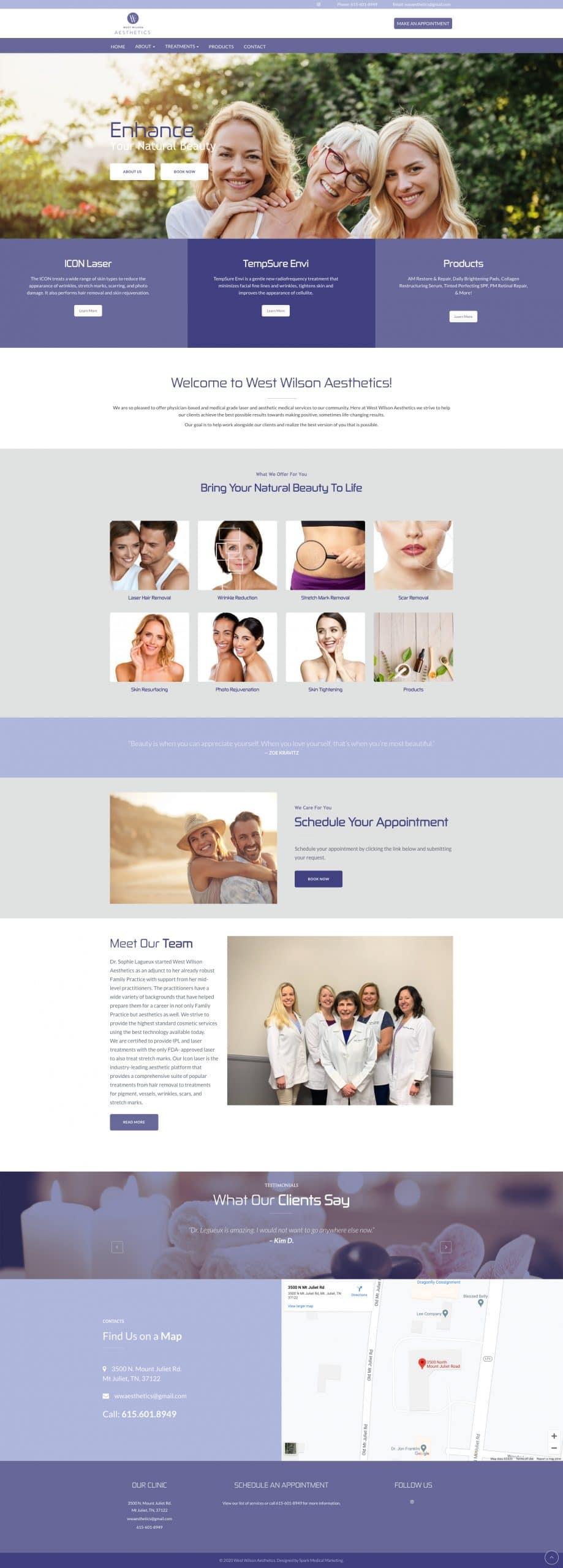 West Wilson Aesthetics Homepage