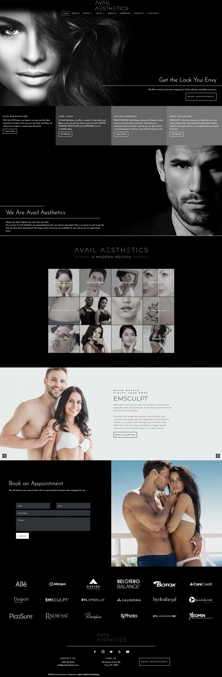 Avail Aesthetics Homepage