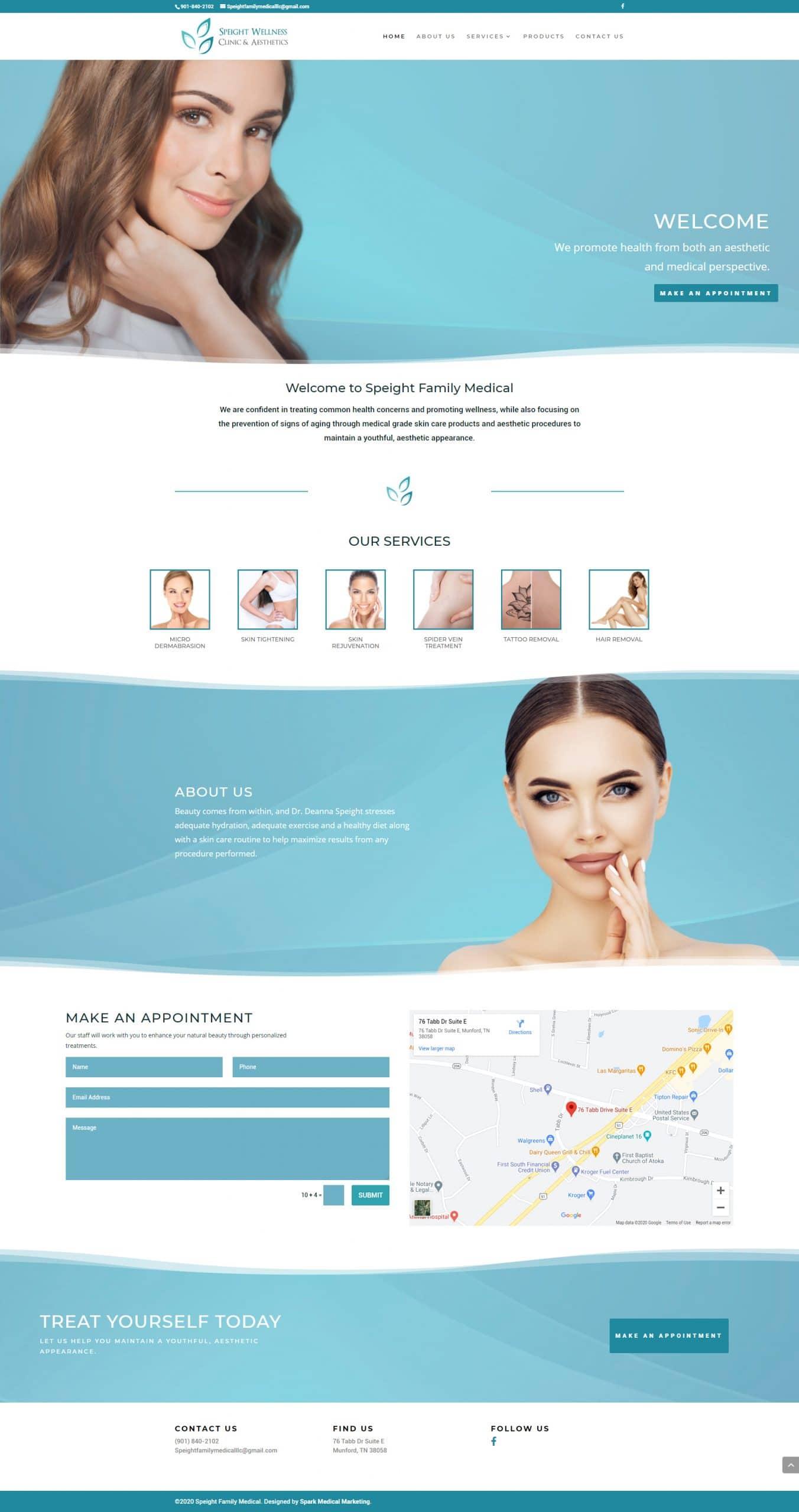 Speight Wellness Clinic & Aesthetics Homepage