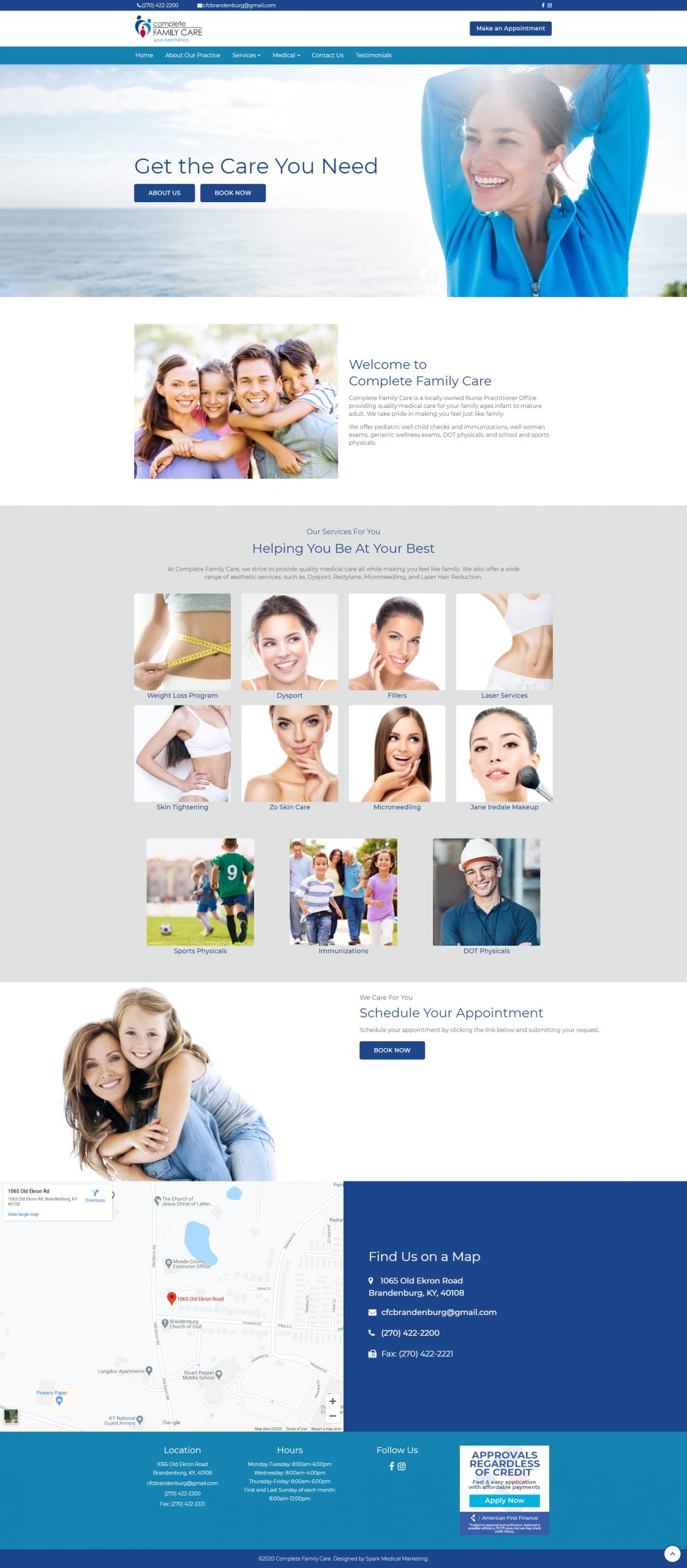 Complete Family Care and Aesthetics Homepage