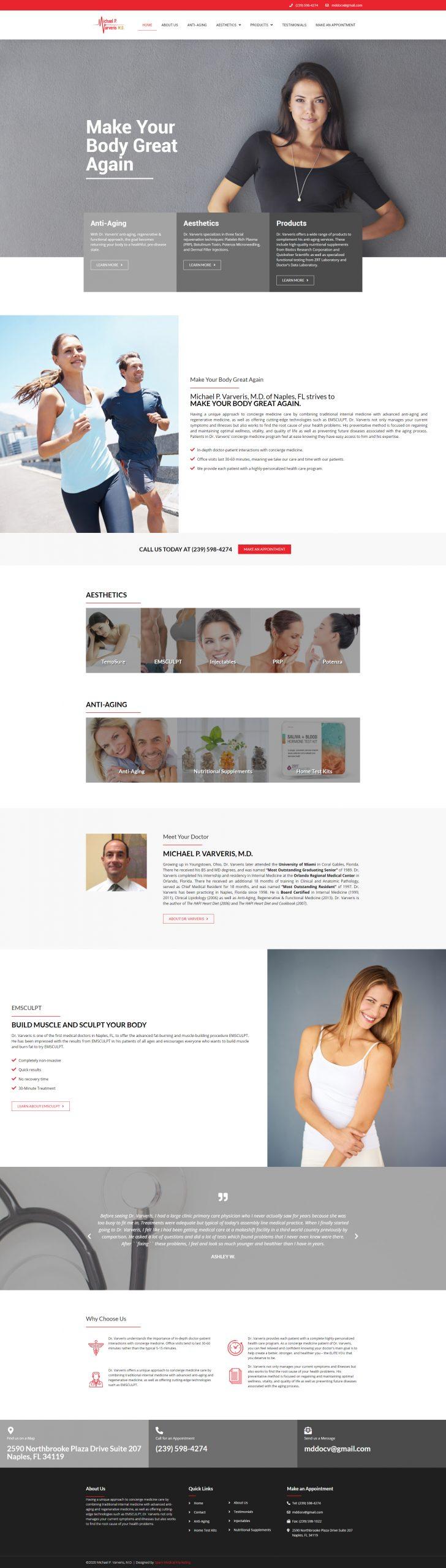 Michael P. Varveris, M.D. Homepage