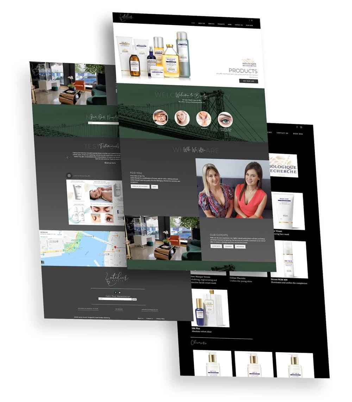 Atelier Beauté Web Design
