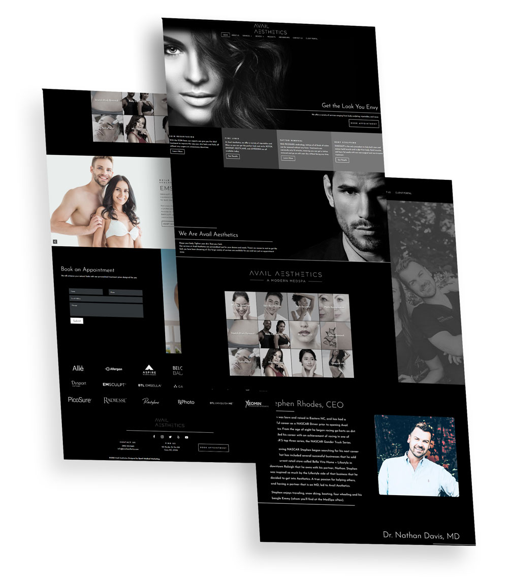 Avail Aesthetics Web Design