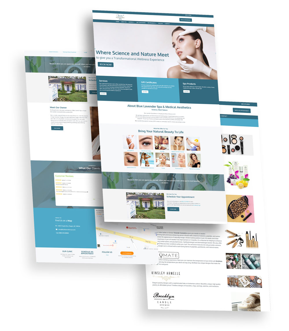 Blue Lavender Spa Web Design