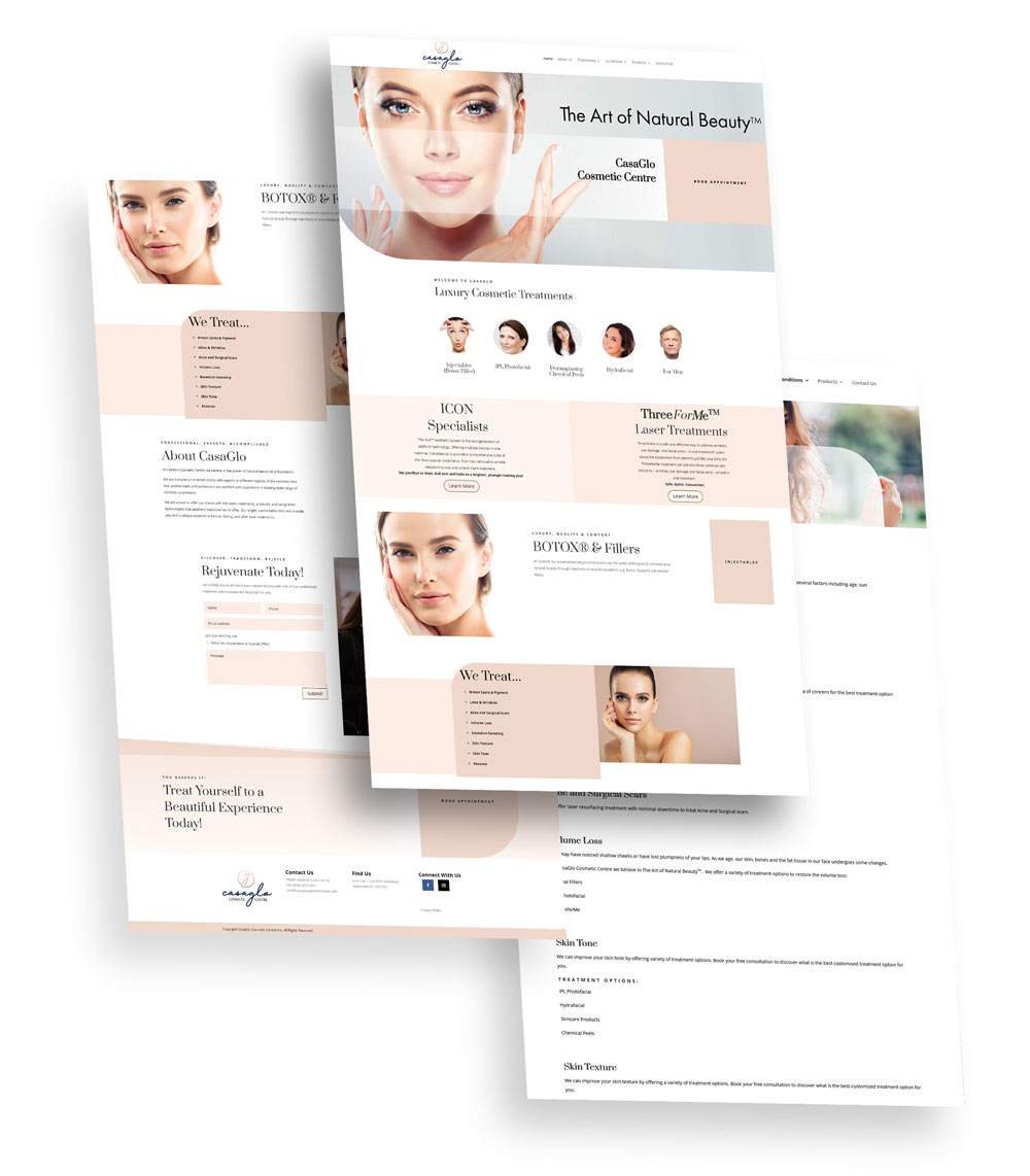 Casaglo Cosmetic Centre Web Design