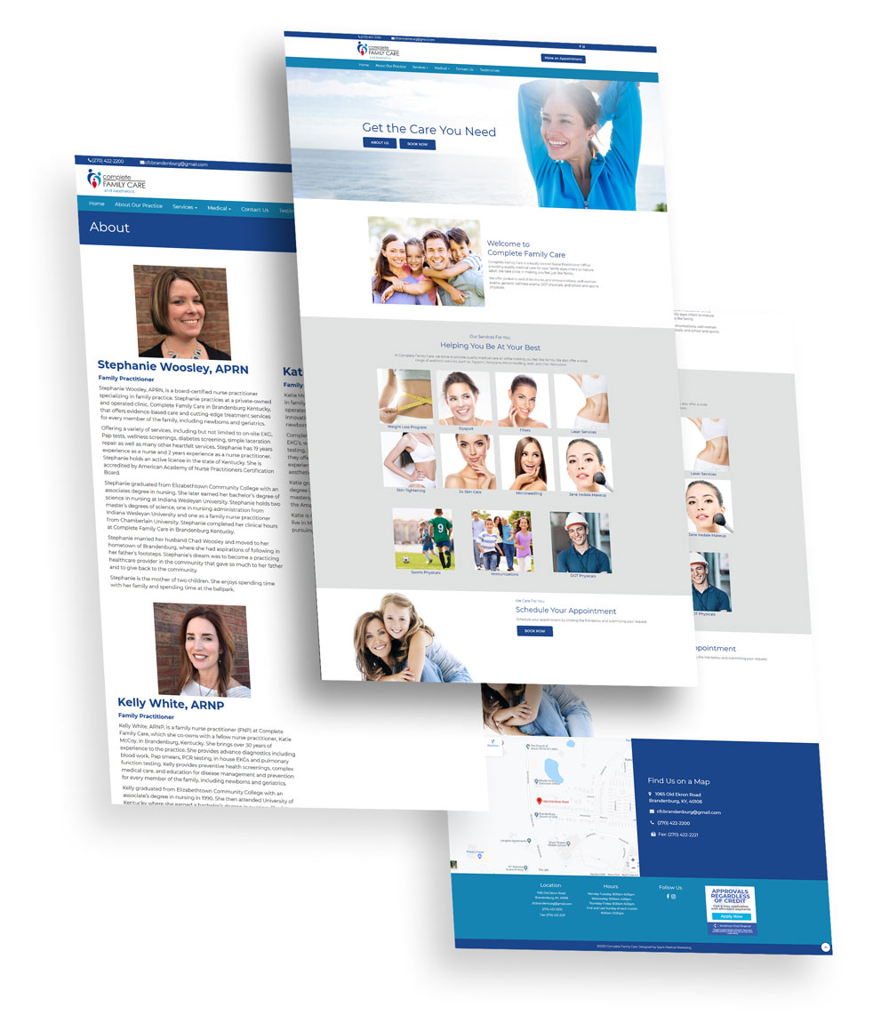 Complete Family Care Web Design