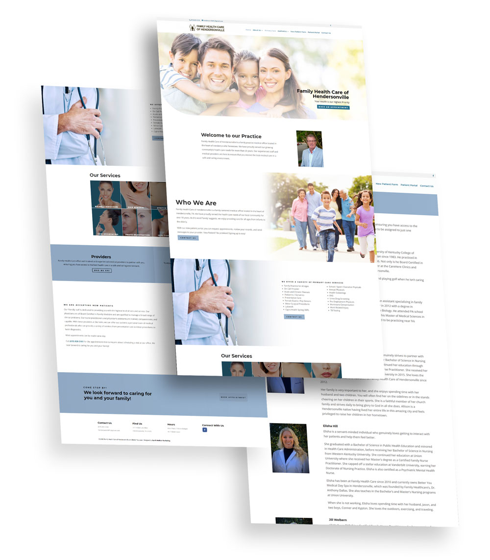 Family Heath Care of Hendersonville Web Design