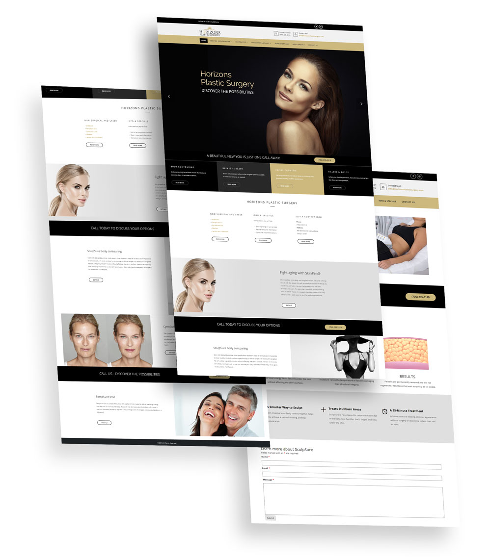 Horizons Plastic Surgery Web Design