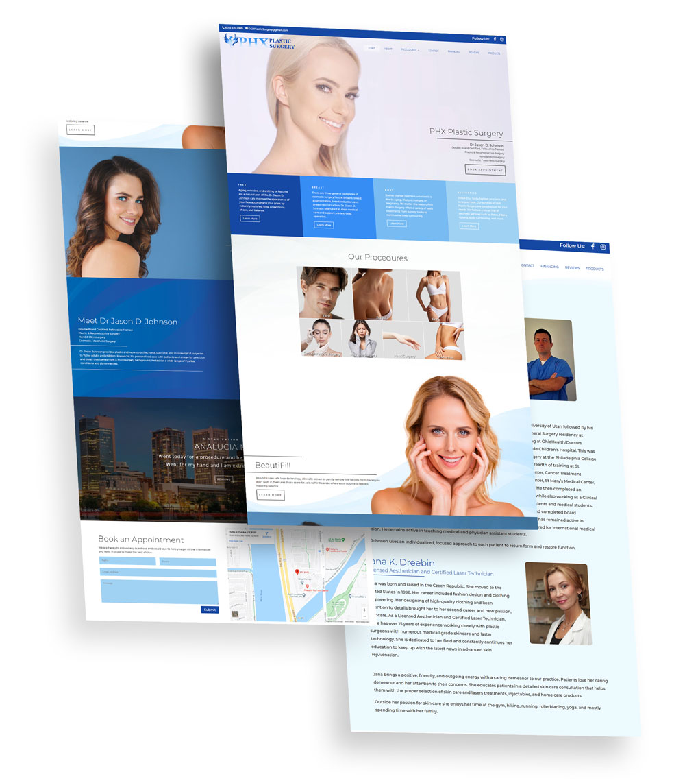 PHX Plastic Surgery Web Design