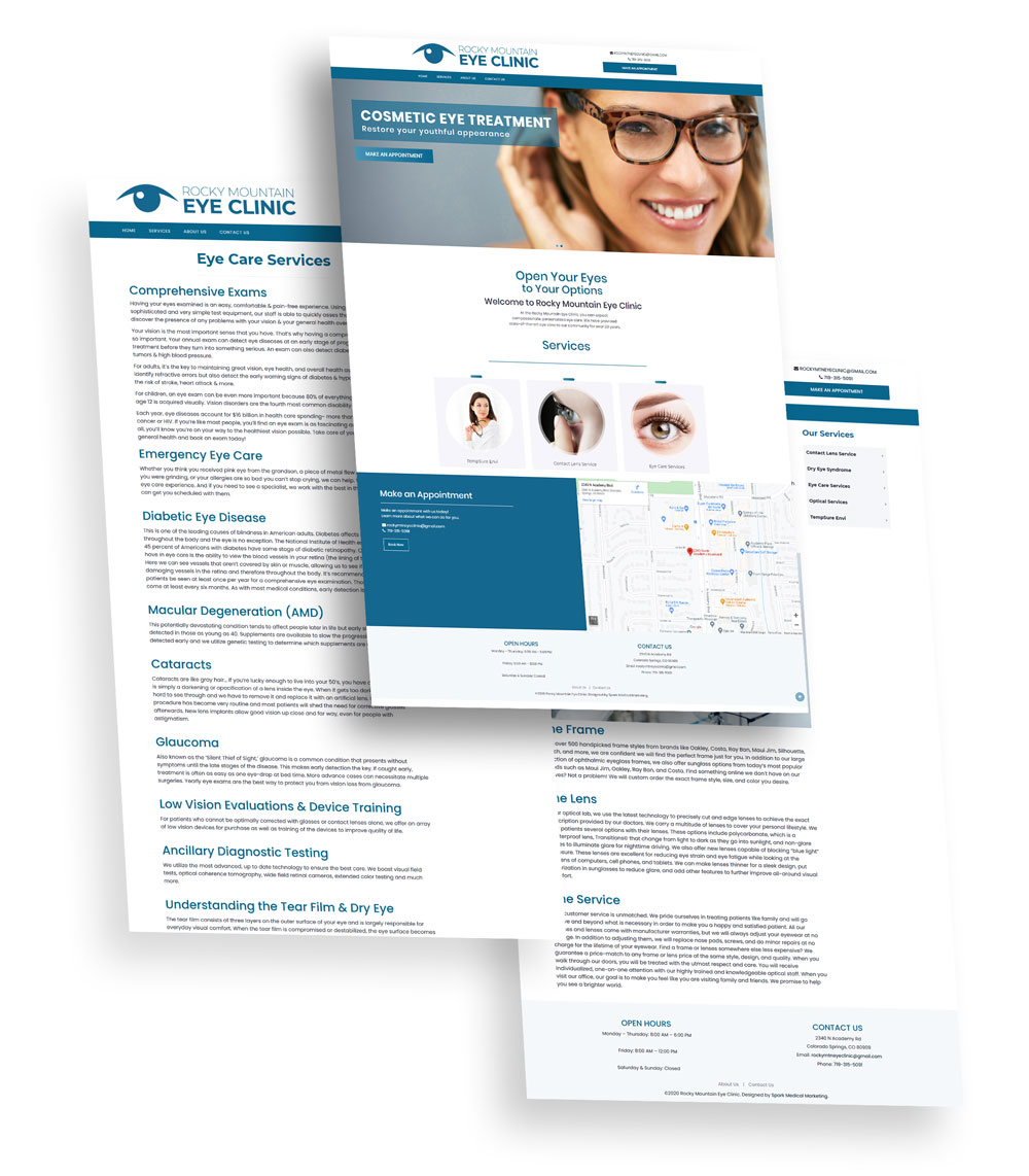 Rocky Mountain Eye Clinic Web Design