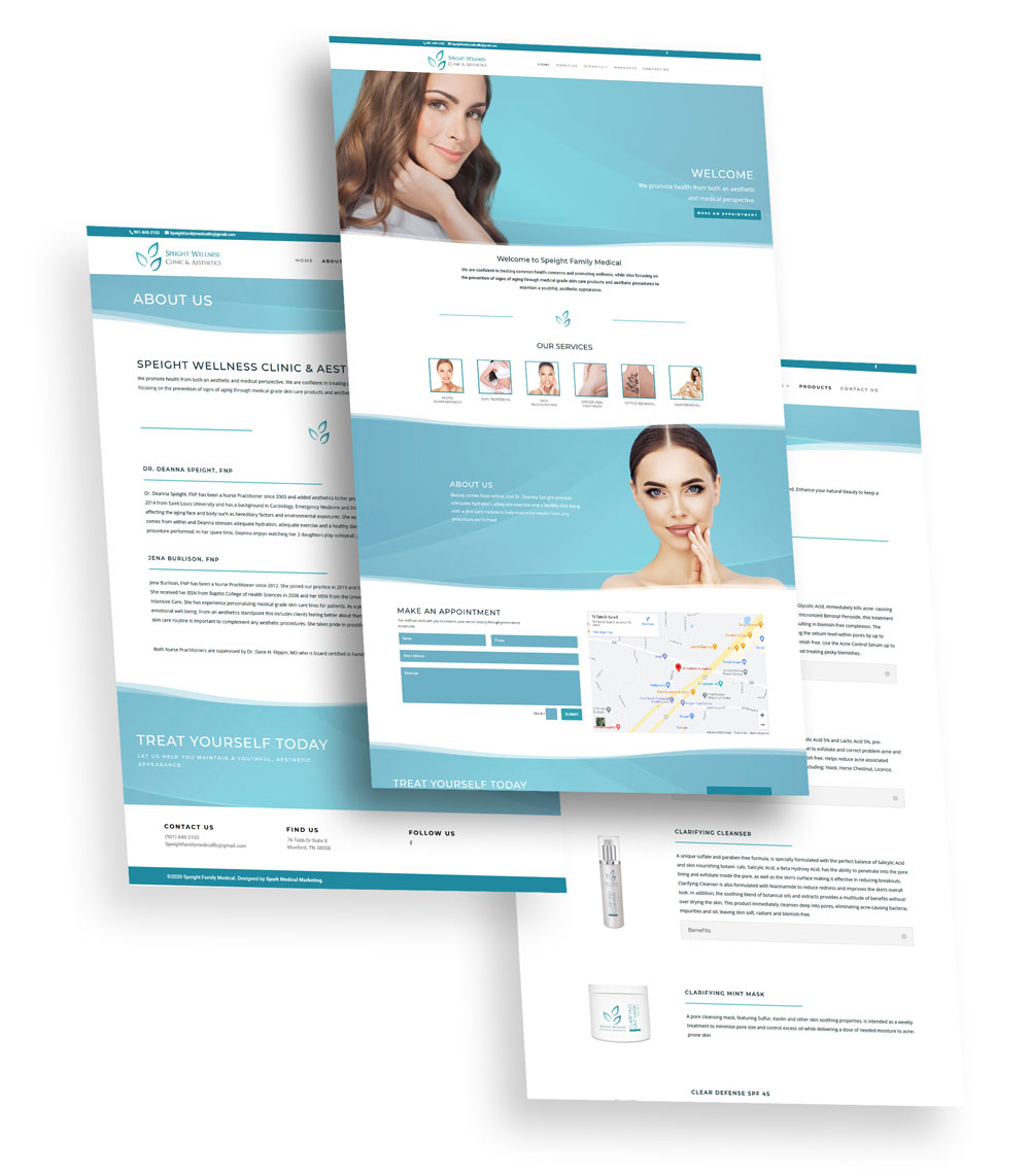 Speight Wellness Clinic and Aesthetics Web Design