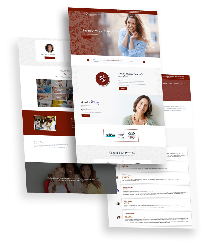 Suburban Woman's Specialists Web Design