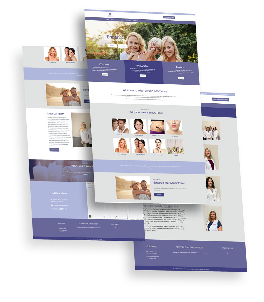 West Wilson Aesthetics Web Design