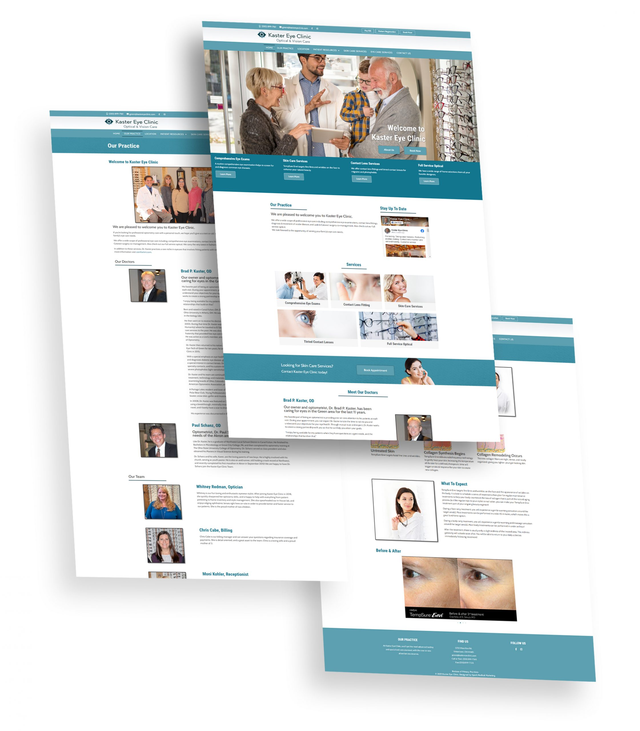 Kaster Eye Clinic Website Portfolio