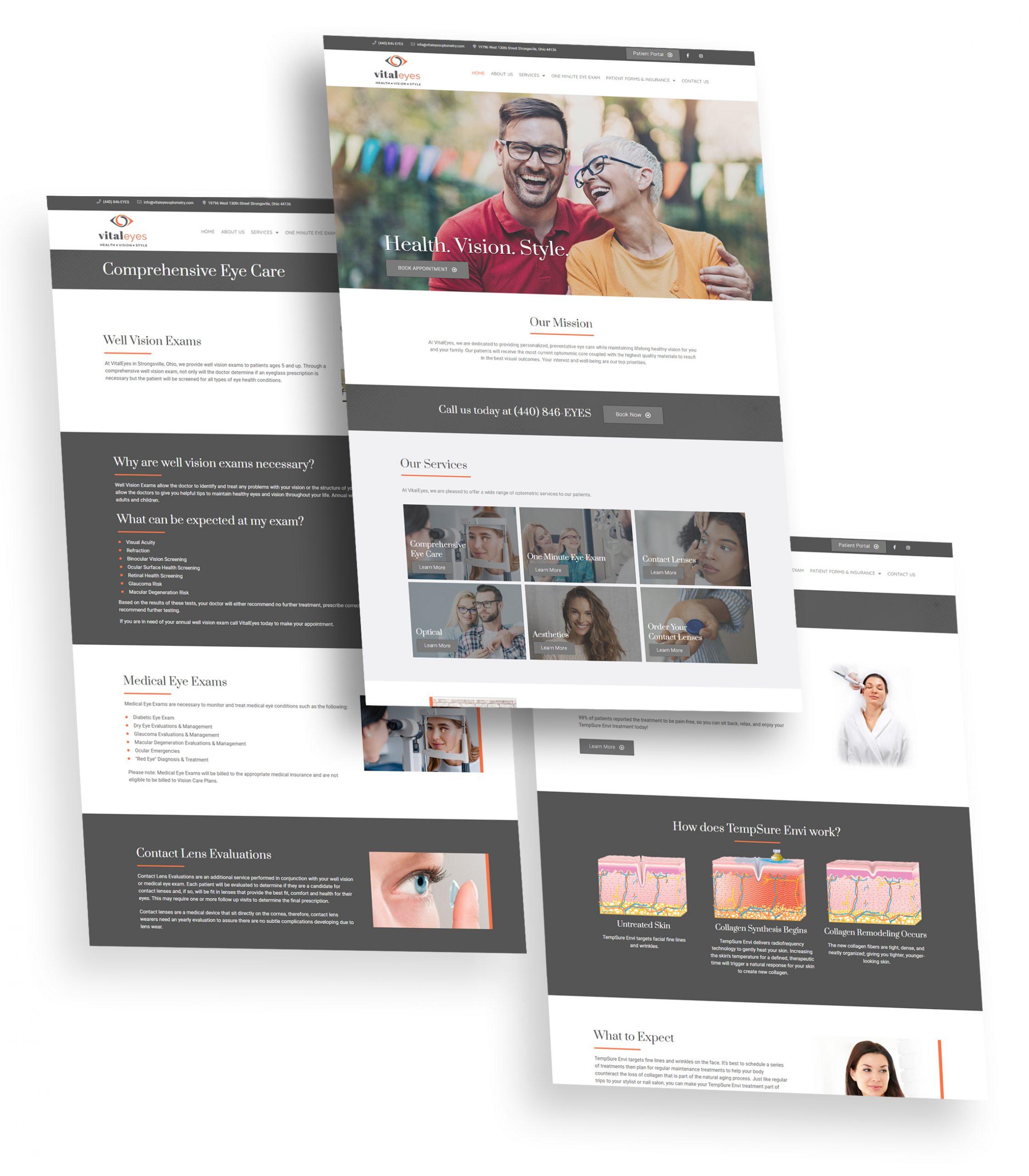 Vital Eyes Web Design Portfolio